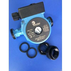 Циркуляционный насос для системы отопления Wester WCP 25-40G (с гайками)